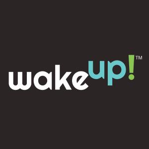 new wake up logo